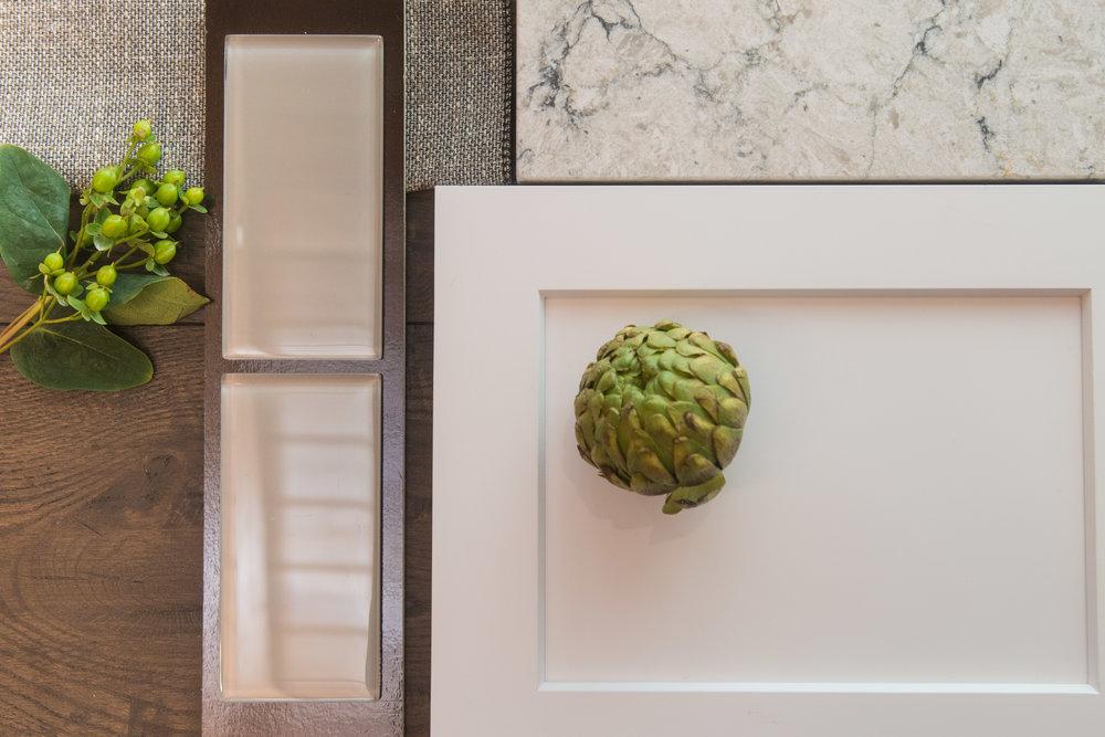 Emser Tile, Omega Cabinetry, Silestone, Monarch Plank + Four Studio Fabric Sample.JPG