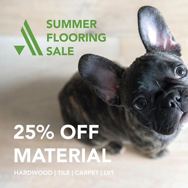 Our summer flooring sale is just about as great as pictures of cute puppies!  From now until June 2nd we're offering 25% off ALL flooring materials - hardwoods, carpet, tile, and luxury vinyl, too!  Schedule an in-home consultation or come visit us in the showroom to find your dream floors!  _________________________________  #arcadiapdx #makehomeyours #newfloors #flooring #hardwoodfloors #hardwood #engineeredhardwood #patternedtile #tilefloor #luxuryvinyl #luxuryvinylplank #carpet #homeimprovement #remodeling #livingroominspo #interiordesignideas #designerlife #designinspo #stylishhome #interiorgoals #interiorandhome #interiordesignblog #pdxliving #portlanddesign #ABMathome #bhghome #calledtobecreative #flashesofdelight #pursuepretty #heymob