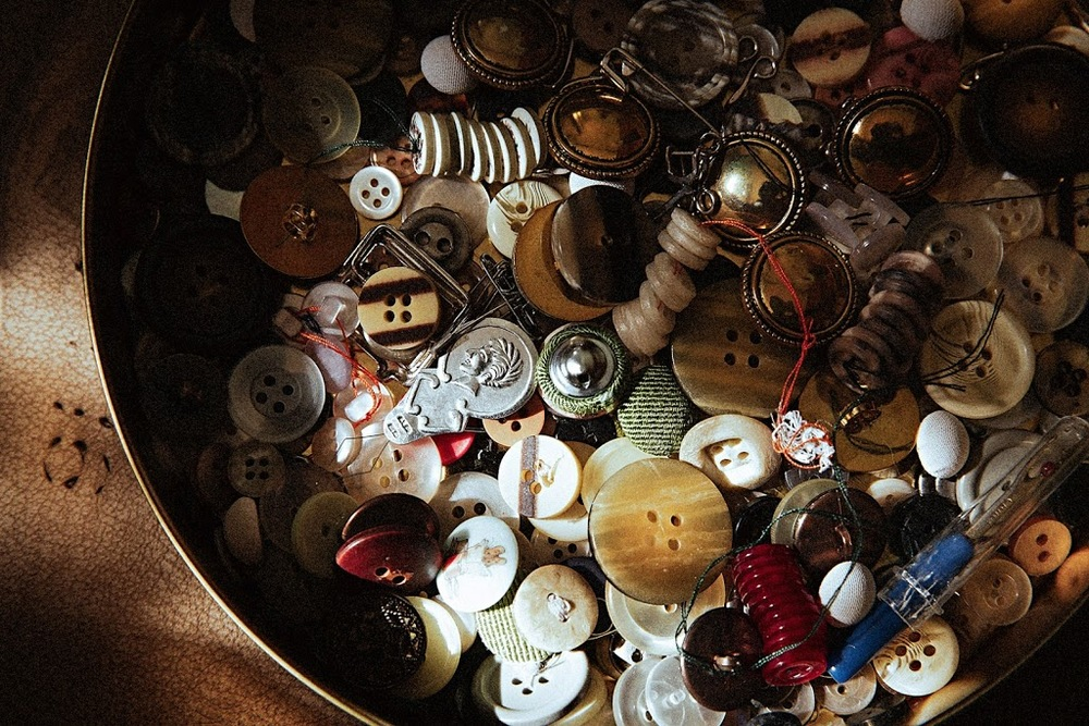 still life photography #SeamstressTreasureBox #SpinsterDowry #Buttons #SophiaTerraZiva