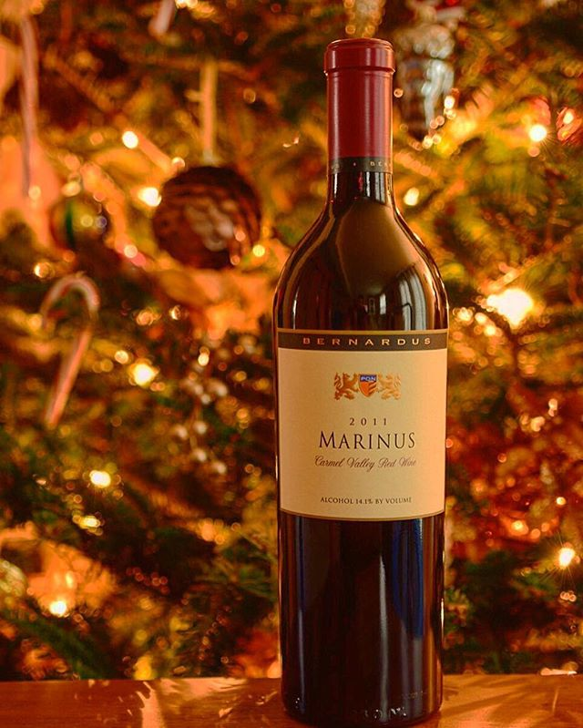 Can't wait to enjoy some Marinus wine from @bernarduswinery during the holiday season in Monterey! #montereychristmas #monterey #bernardus #wine #christmas #centralcoast #carmel #carmelvalley
