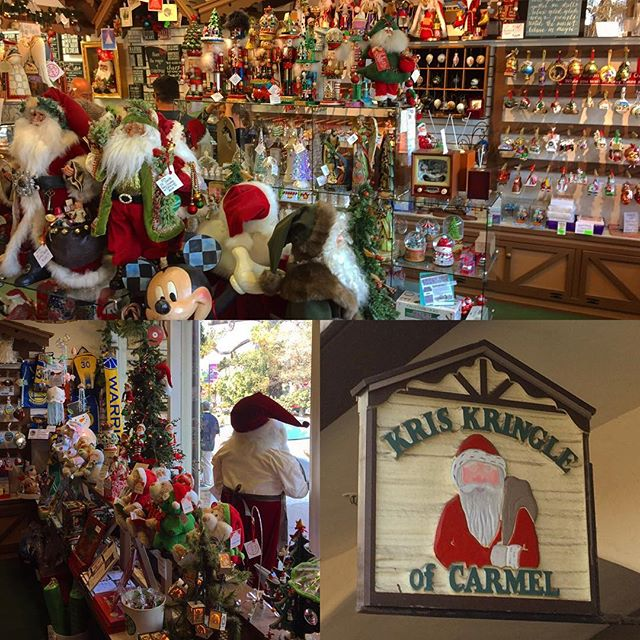 No matter what time of the year Kris Kringle of Carmel Christmas shop you'll be able to find that special Christmas item! #christmas #monterey #carmel #montereychristmas #kriskringle #montereybay