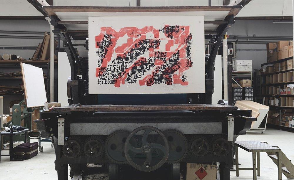 Lek & Sowat 'Paper Trail' stone lithography