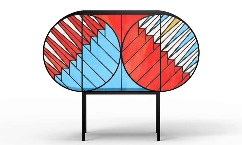 Credenza Stained Glass Furniture Collection designed by Patricia Urquiola and Federico Pepe for Spazio Pontaccio