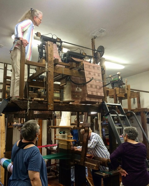 Antique jacquard looms for our workshop at Fondazione Lisio, Florence