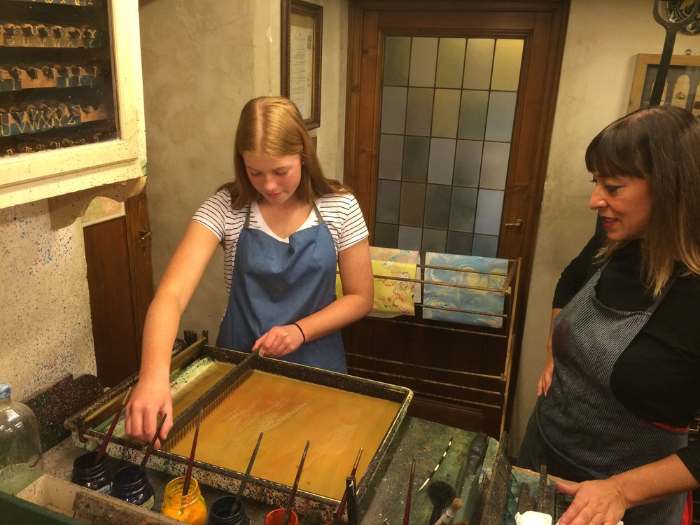 Paper Marbling Workshop with master paper decorators Giulio Giannini & Figlio, Florence