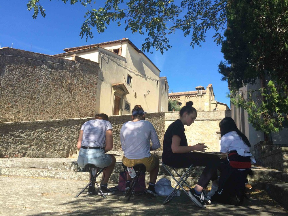 Plein Air sketching, Fiesole