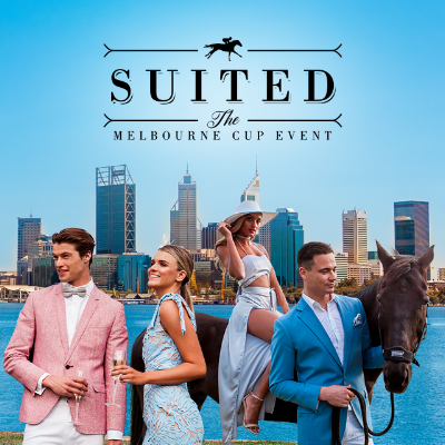 -           Suited - The Melbourne Cup Event 17PERTH'S #1 MELBOURNE CUP EVENT IS BACK!!!Suited Events know how to throw a Melbourne Cup celebration and this year we are turning it up another level for the most anticipated event of the year. Situated on the beautiful South Perth Foreshore, guests are invited to join Suited Events in celebrating the race that stops the nation while enjoying the endless multitude of entertainment and glamour in front of the incredible Perth skyline.Tickets on sale now via Ticketbooth: https://events.ticketbooth.com.au/event/suited-the-melbourne-cup-event-17