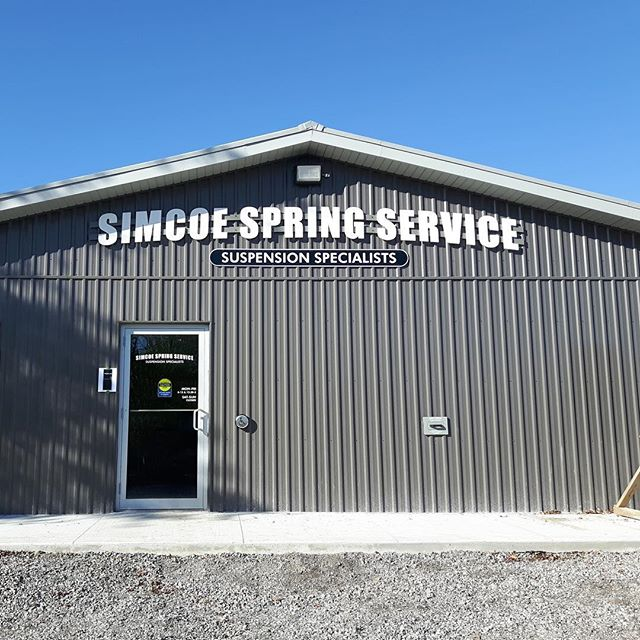 #cnc dimensional lettering #signage newly installed for #simcoe Spring Service  #norfolk #sign