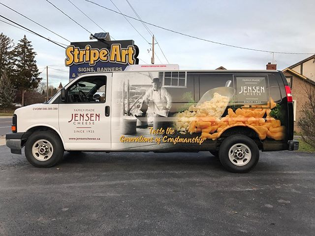New #wrap for #local #cheese #producer #retailer @jensen_cheese 🧀 Source #photography by @grangerdaryl and #graphicdesign and #wrapped by @ryanszucs @stripeartinc  #3m #design #norfolkcounty #shoplocal #supportlocal #ontario #cheesecurds #tasty 😋🧀🐭