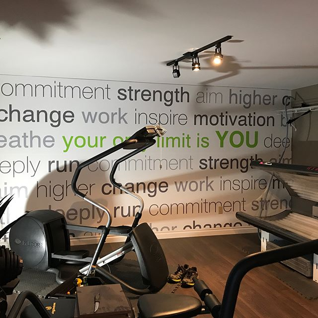 Looking to #customize a wall in your retail or office space? Personalize a home #gym or personal space? We have an option for you! Custom printed #wallpaper! Here are two newly completed #graphics for some very happy customers! #vinyl #wallgraphics #design #interiordesign #graphicdesign #norfolkcounty #ontario