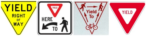 Yield-signs