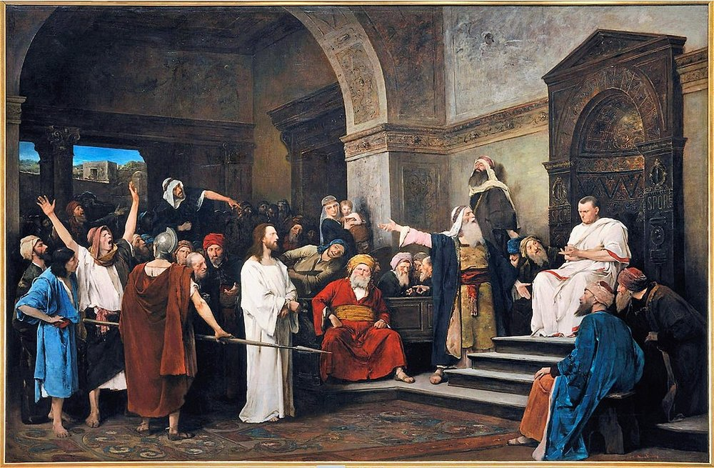 Christ before Pilate-Mihaly_Munkacsy-public domain