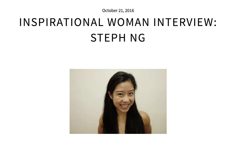 Our feature on Inspirational Women Series, where Steph talks about why she started Body Banter, why we encourage vlogs, why body image issues matter, and MORE!