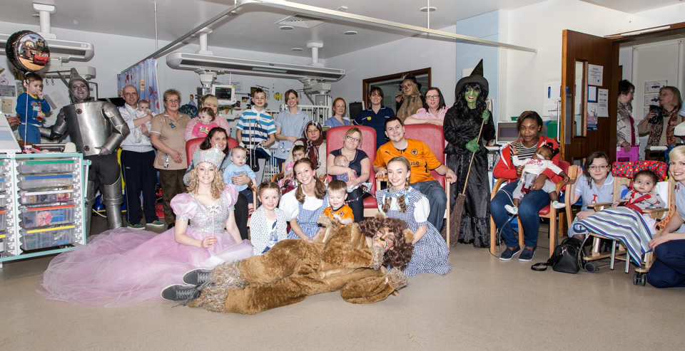 Wizard of Oz cast at Freeman Hospital Children's Heart Unit
