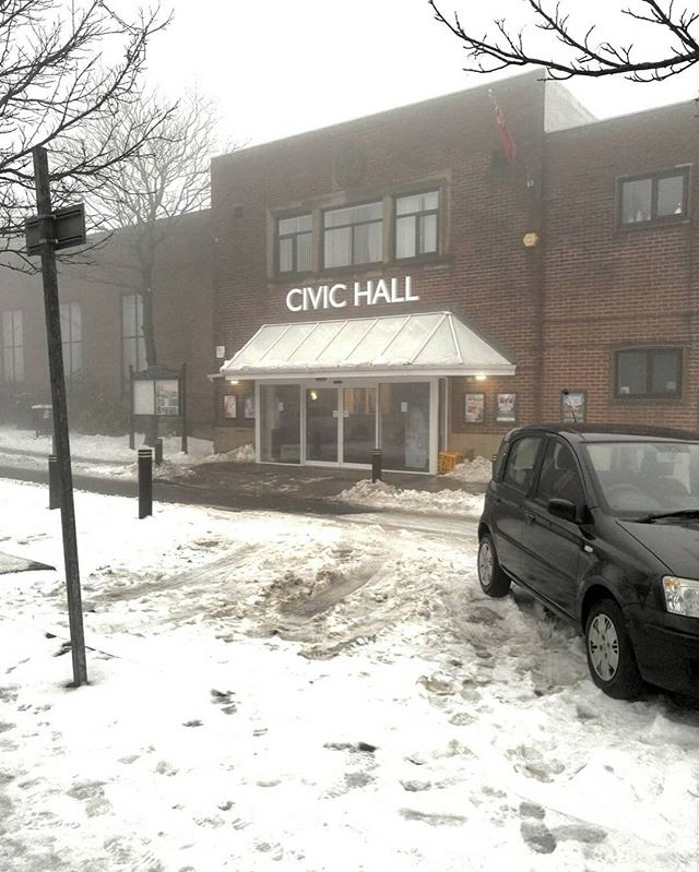 3 postponements but we have got through the snow and fog and are back working at #civichallstanley with @brannaz90