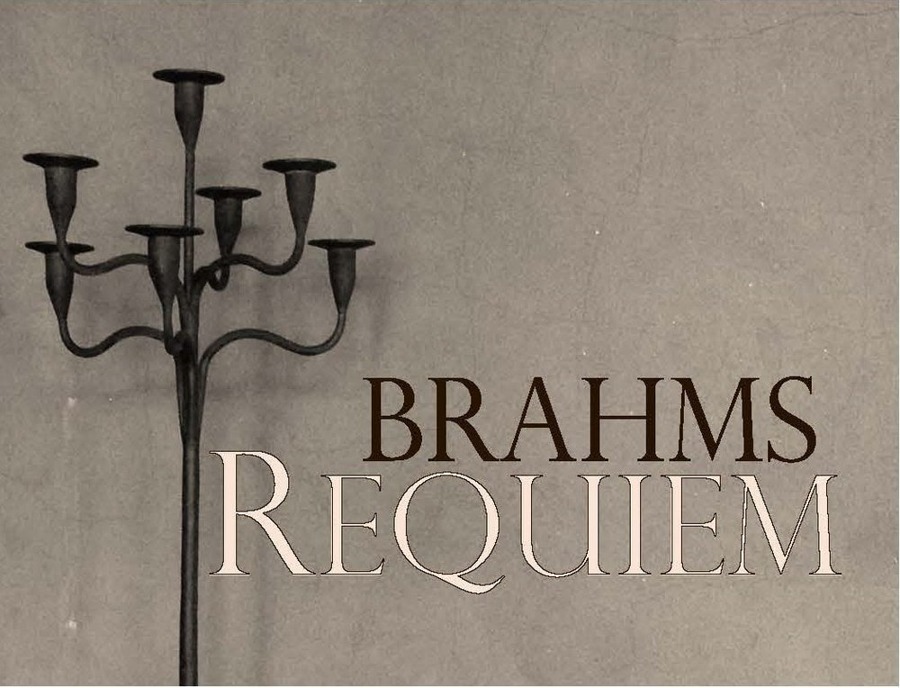 Johannes Brahms:  A German RequiemSaturday, 11 November 2017, 7:30pm             Brecon Cathedral - One of his most popular works, Brahms was in his forties before he completed his first symphony, and goodness knows what other symphonic achievements he might have had, had he not been cowered into silence by the ghost of Beethoven for so many years. Fortunately for us,  he wasn't similarly scared off writing large choral works. It is extraordinary to think that this Requiem of such great physical and emotional magnitude was his first major composition, written when he was only in his thirties.. It is believed that this Requiem was written as a tribute to his mother and designed to comfort the grieving..The Brecon Singers will sing this Requiem in English under the baton of our amazing Musical Director Robert Evans.  For tickets contact Ellie on 07790 942423.