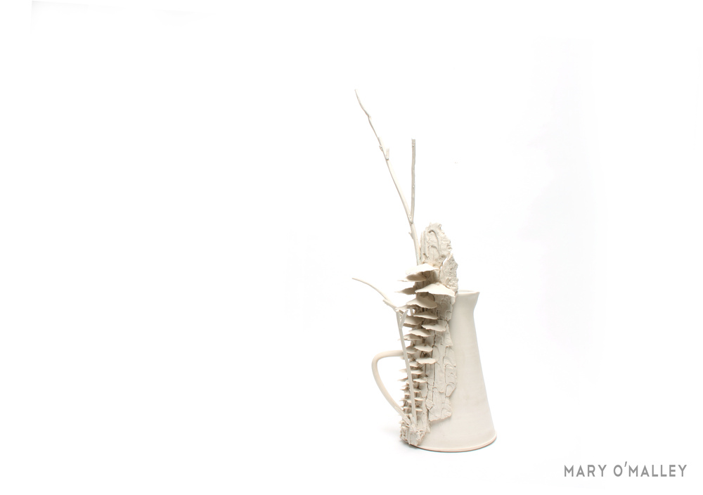 Mushroom Pitcher, 2013, H50cm x W15 x D12cm, Thrown and Handbuilt porcelain, glaze