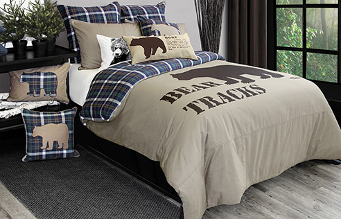 Rustic and cute duvet cover