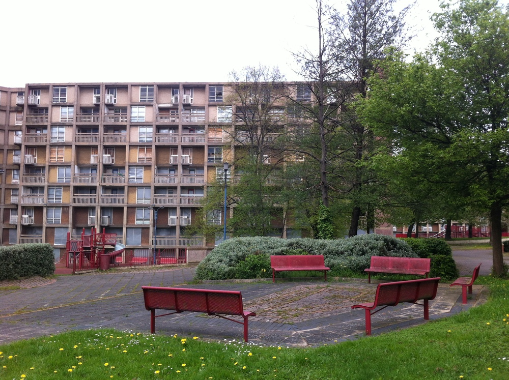 Empty Park Hill Estate , Photograph, Adam Watts 2014.
