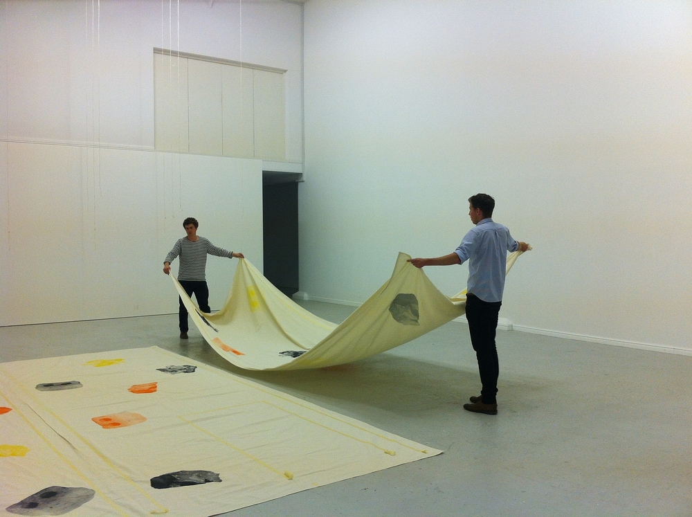 Structures and Spaces installing (or performing/you decide)  0.55 at No Format Gallery. 2013