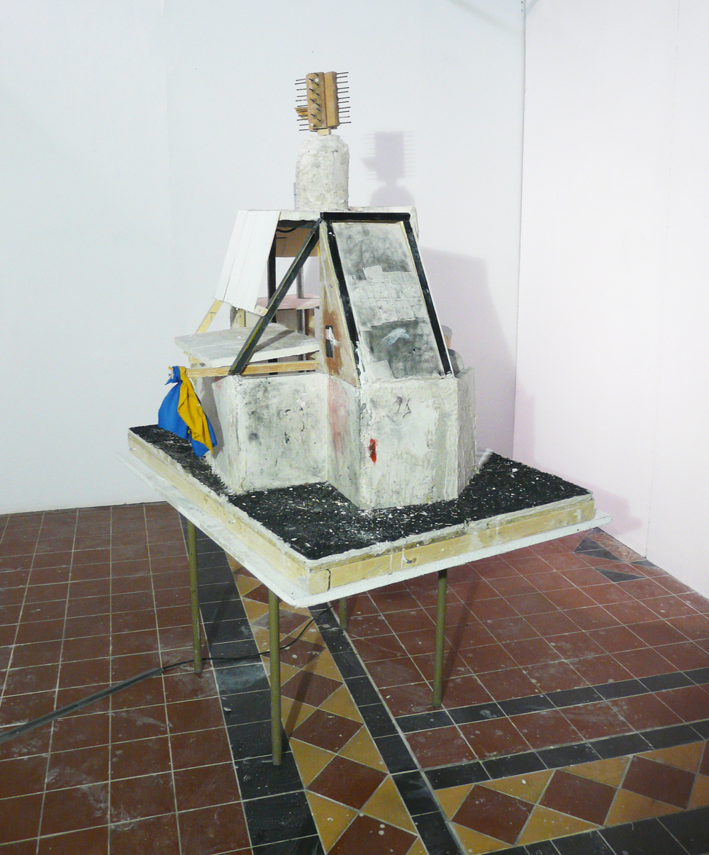 Model of an imaginary abandoned building,  Florence Trust Residency, London, Adam Watts, 2011.