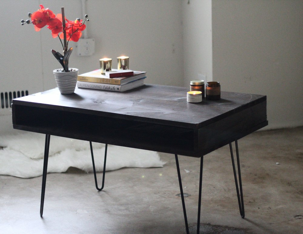 DIY mid century modern coffee table west elm hack