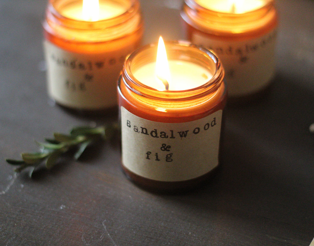 DIY rustic holiday inspired soy candles