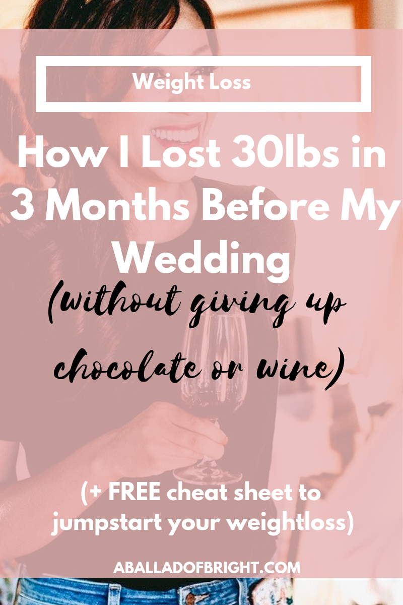 Lost weight for your wedding