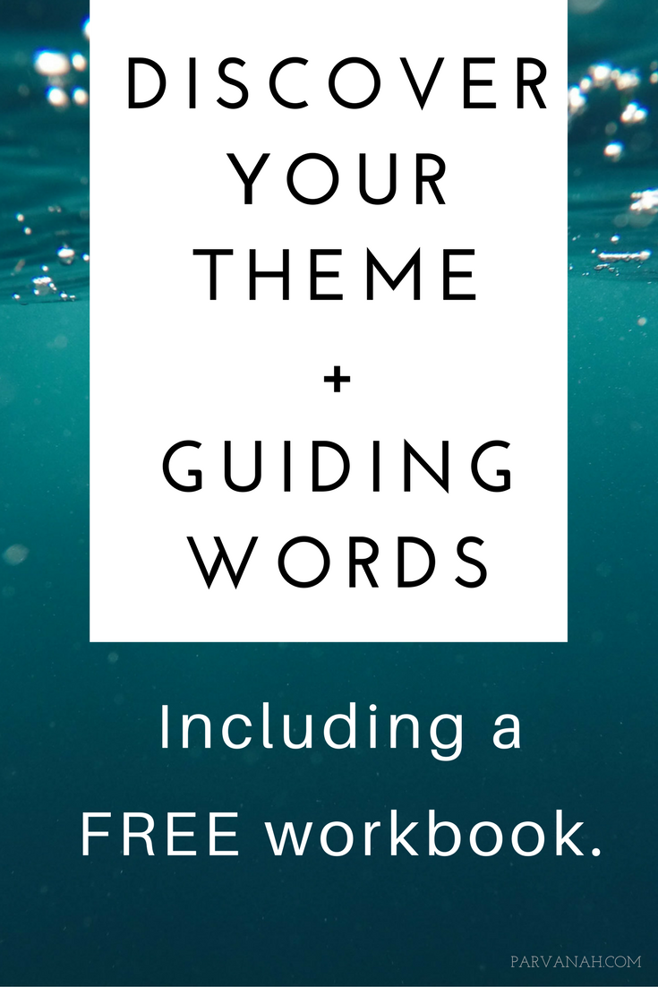 Discover your theme and guiding words. Make this year (or quarter, or month, or week) an intentional one by declaring a theme and guiding words. Use your theme and guiding words to support you in making mindful goals and actions that are aligned with your intentions.