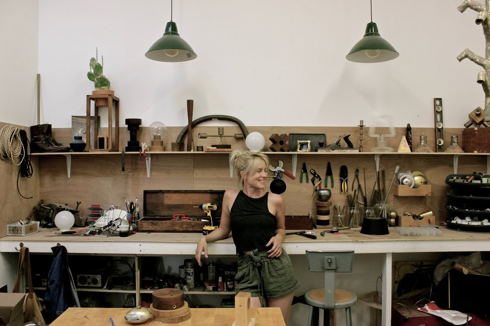 Molly in her Atwater studio