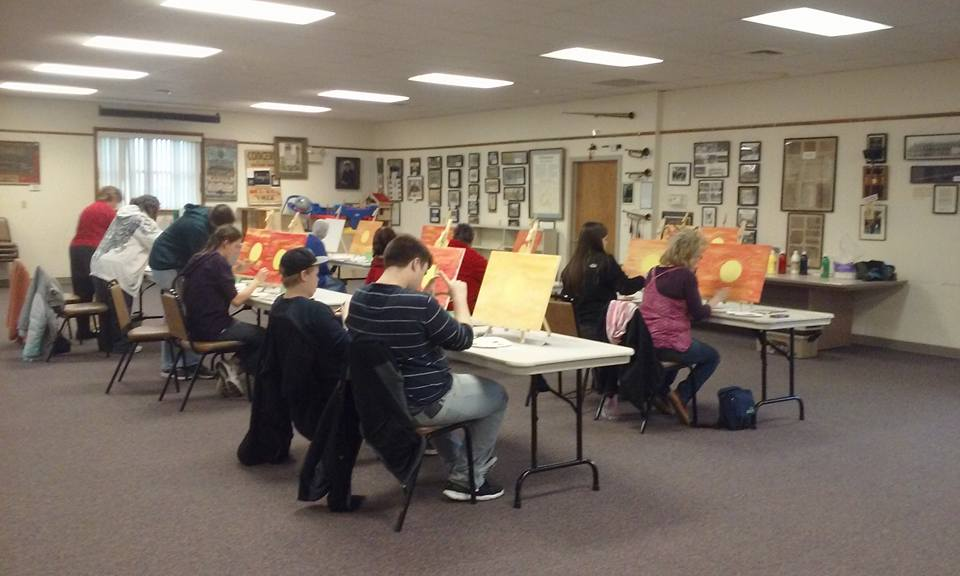 New Holland Library art class we hosted.