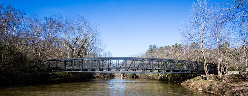 Riverwalk bridge over Big Creek, January 26, 2017