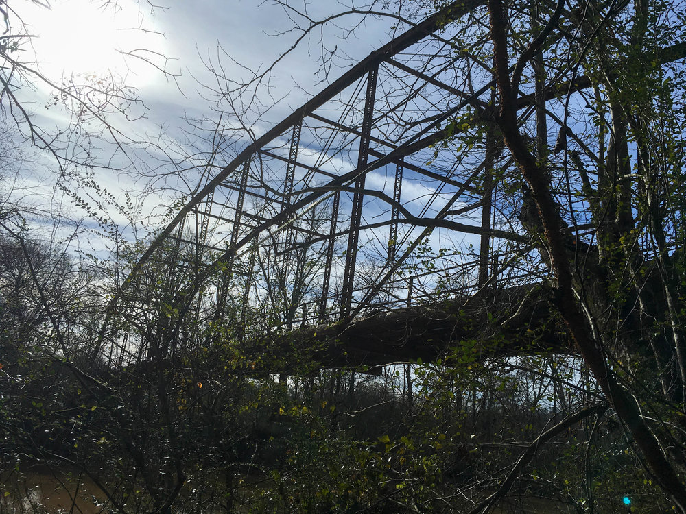 Remnants of Rogers Bridge, December 29, 2018