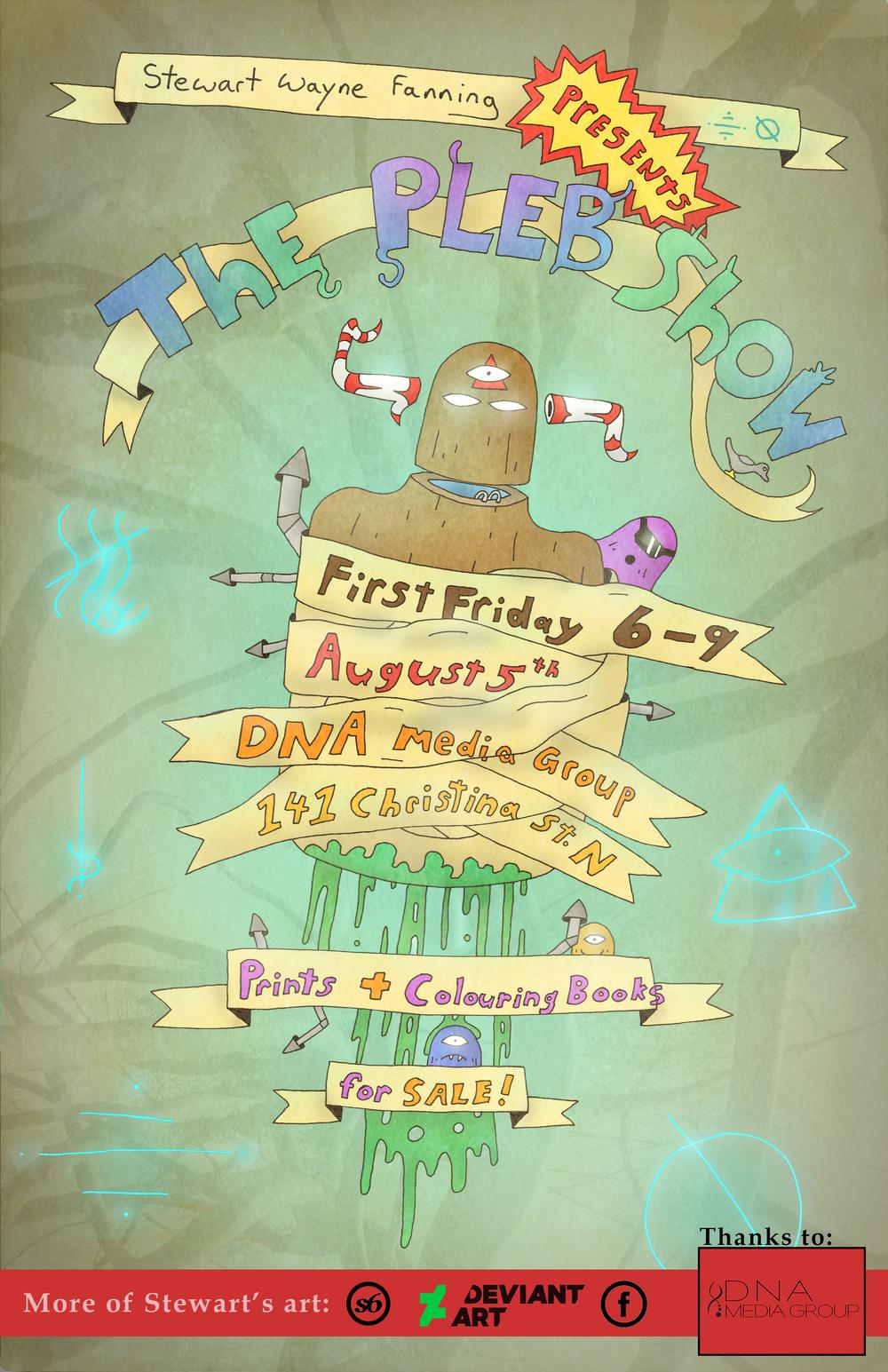 The Pleb Show Poster 2015