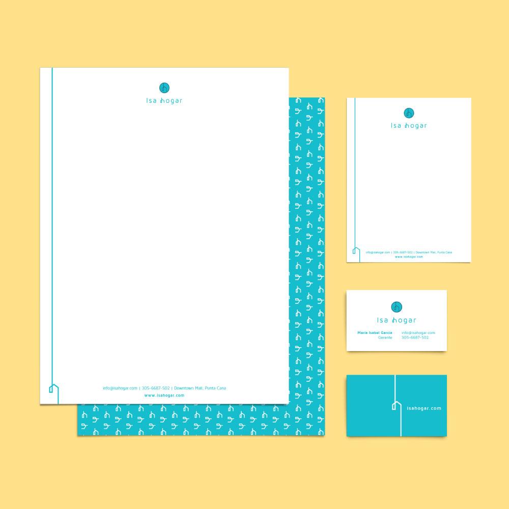 Identidad visual - Isa Hogar - papeleria
