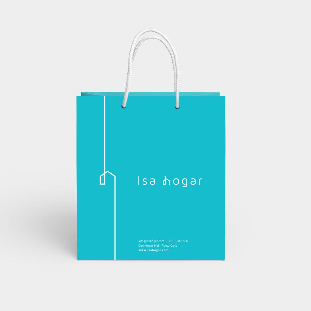 Identidad visual - Isa Hogar - bolsa