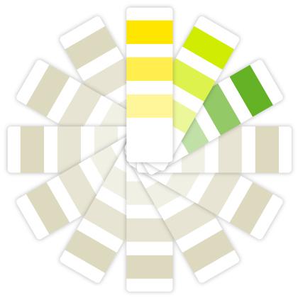 Fórmula armónica: utiliza 3 colores que se encuentren juntos en el círculo cromático.