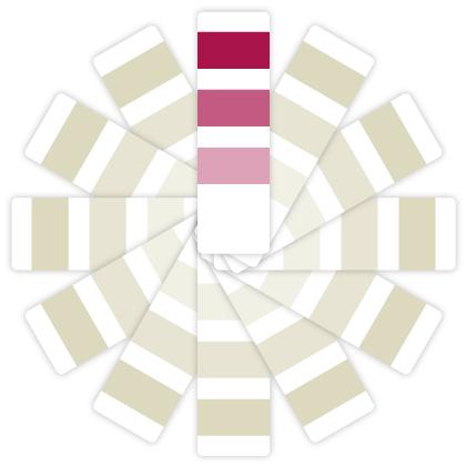 Fórmula monocromática:Se logra utilizando varias tonalidades del mismo color.