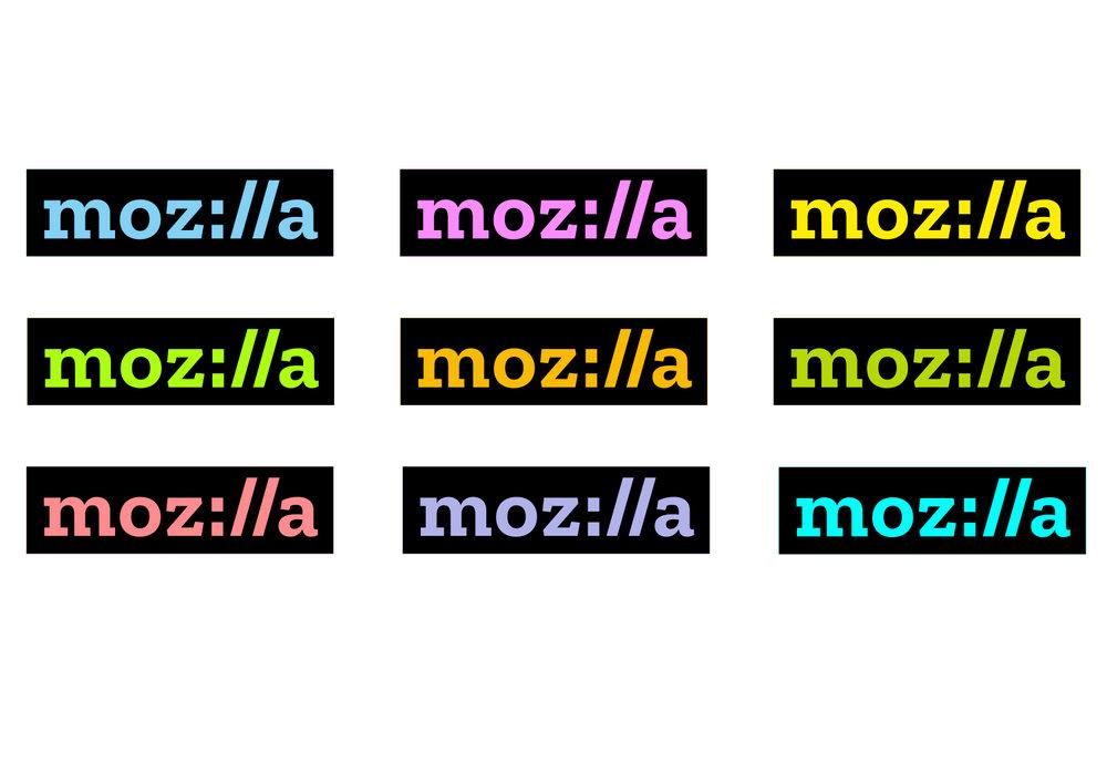 Mozilla paleta de colores