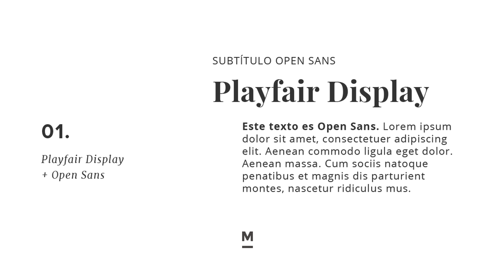 Combinación de tipografía con Google Fonts: Playfair Display + Open Sans