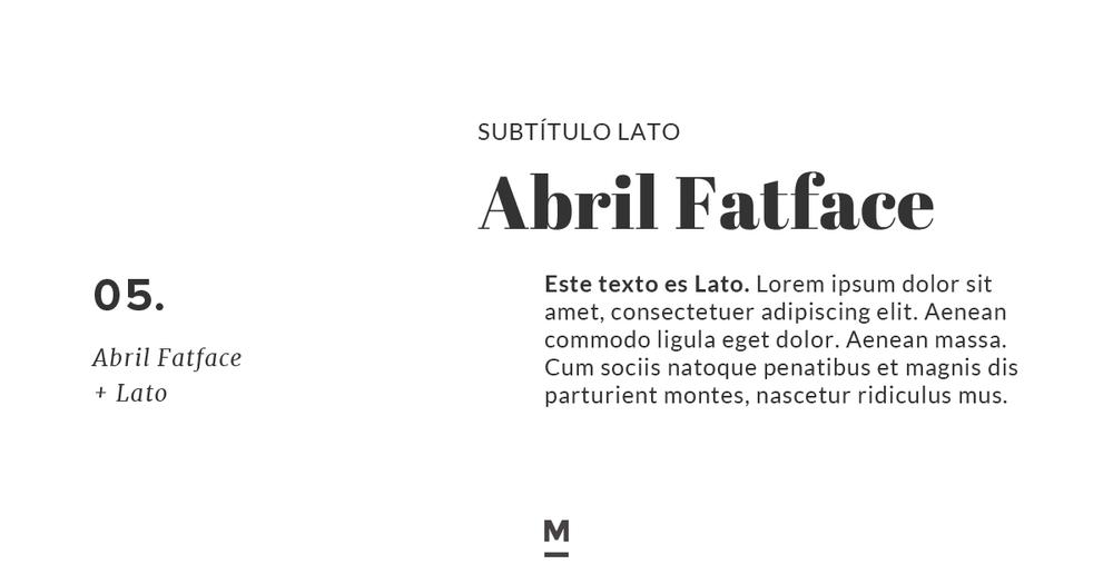 Combinación de tipografía con Google Fonts: Abril Fatface + Lato