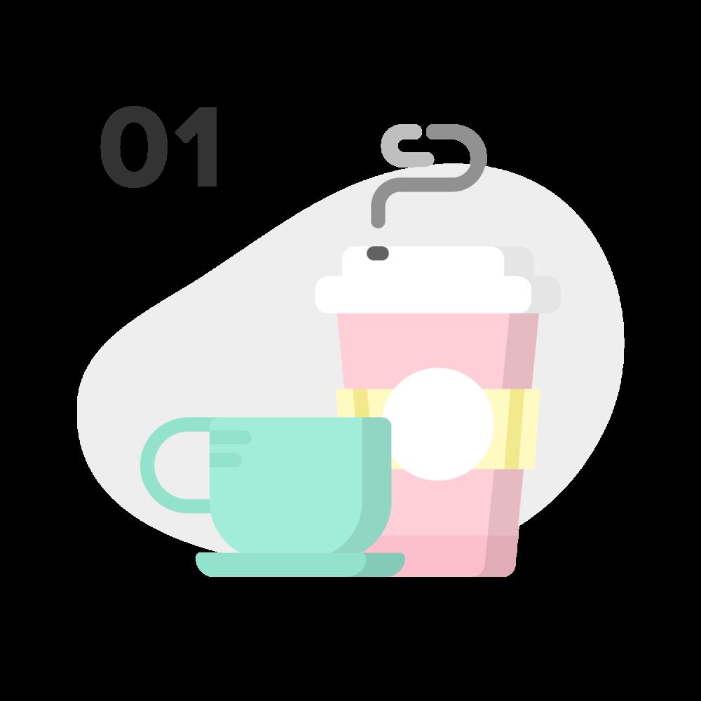 Un café virtual para conocernos - Lo primero que haremos será tomarnos un café virtual (por Skype) para conocernos y así me cuentes un poco sobre tu marca. Mi prioridad en este momento es que tu y yo hagamos un buen equipo juntos. Solo así podemos crear esa gran identidad para tu marca.