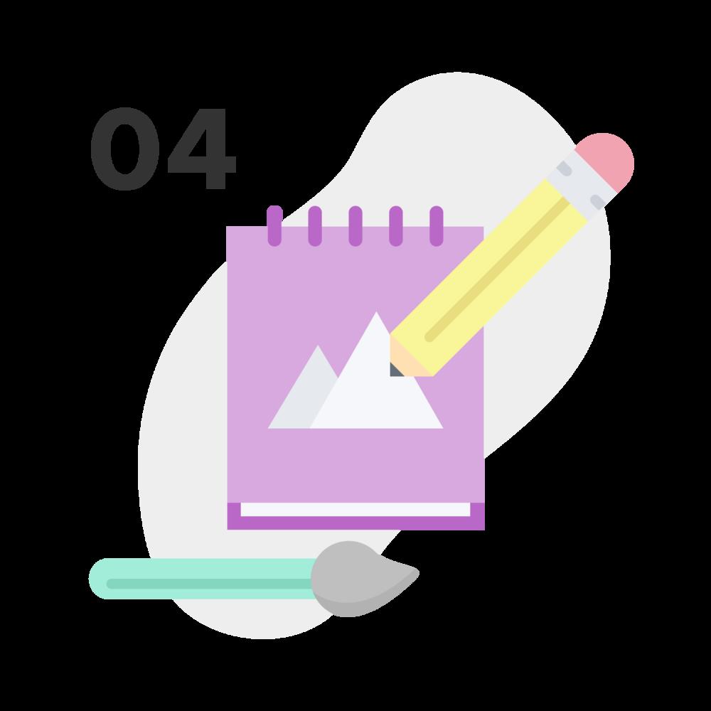 Desarrollo de conceptos - Desarrollaré de 2 a 3 conceptos para la identidad. Escogeremos uno al cual se le podrán hacer hasta 3 rondas de modificaciones para conseguir el mejor resultado.