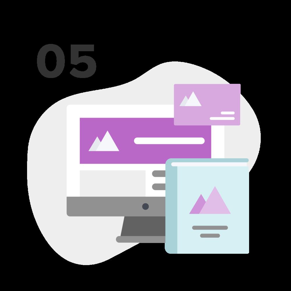 Guía de estilo, tarjeta de presentación y perfiles de redes sociales - Una vez definida la identidad, es momento de crear la guía de estilo.Luego diseñaré la tarjeta de presentación y las imágenes para los perfiles de tus redes sociales.
