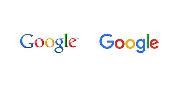 Es el caso de Google que antes tenía un logo con una tipografía muy clásica y aburrida y no estaba a la moda con las tendencias de diseño de hoy en día. Cambiaron la tipografía a una sans serif y cambiaron ligeramente los colores también, haciéndolos más vibrantes y modernos.