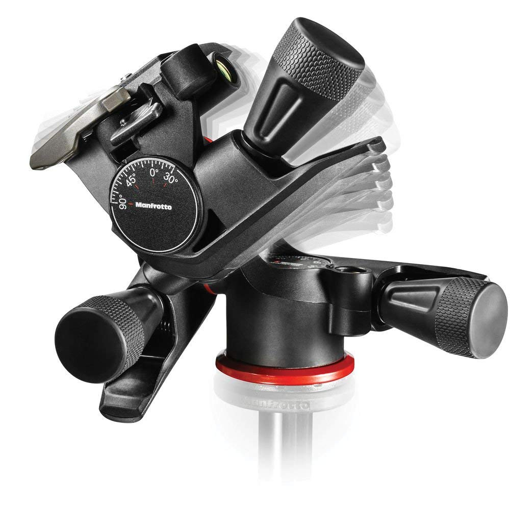 Cabezal para trípode - Este cabezal que se coloca sobre el trípode sirve para girar la cámara cómodamente en todos los ángulos.