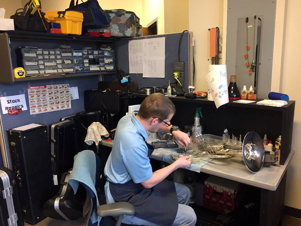 photo of Musical Innovations' in-house repair shop