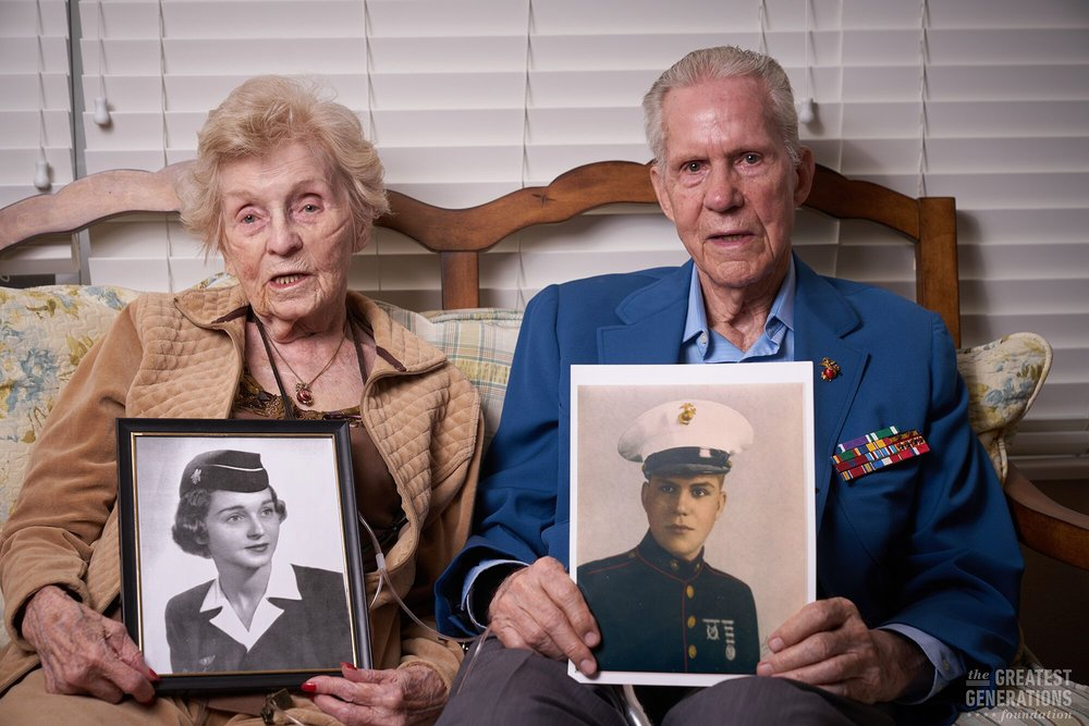 Nancy and James Blane - World War II veteran