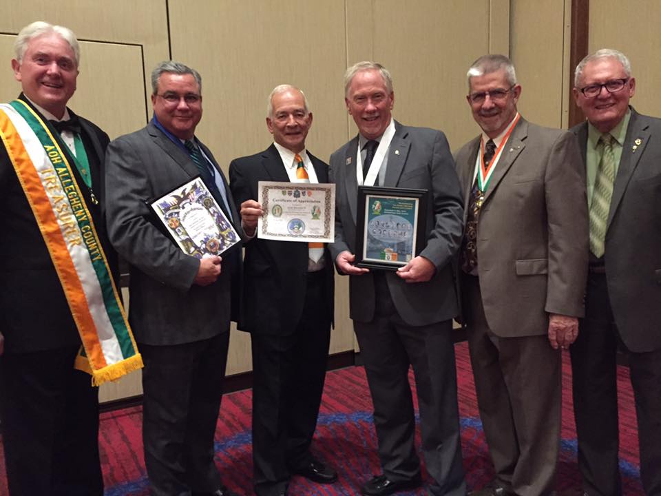 Pictured left to right: Denny Maher, Tim Regan, Jim Snatchko, Bob Kelly, Denny Donnelly, Bill Myers