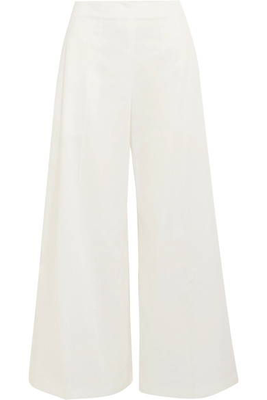 JOSEPH - cotton wide leg trousers